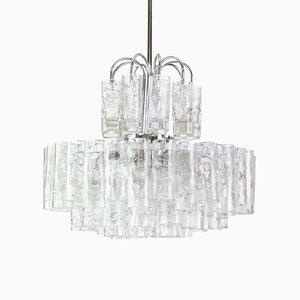 Murano Ice Glass Chandelier from Doria Leuchten, Germany, 1960s