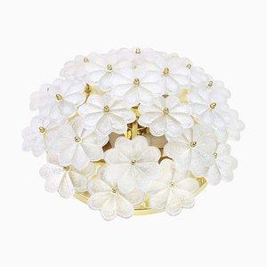Florale Wandlampe aus Muranoglas von Ernst Palme, 1970er