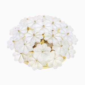 Murano Glass Flower Wall Light by Ernst Palme, Germany, 1970s