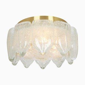 Lampada da soffitto in vetro satinato di Murano di Doria Leuchten, Germania, anni '60