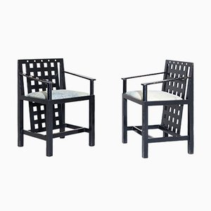 Vintage D.S.4 Armchairs by Charles Rennie Mackintosh for Cassina, Set of 2