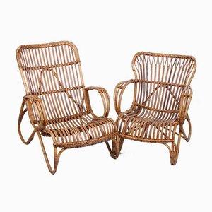 Ladies & Gentlemen Lounge Chairs by Dirk van Sliedregt for Gebroeders Jonkers Noordwolde, 1950s, Set of 2