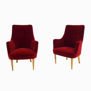 Armchairs in the style of Ico Parisi for ISA Bergamo, 1950s, Set of 2