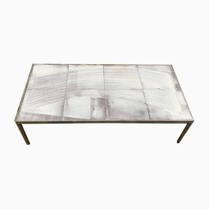 Table Basse Mid-Century en Céramique par Roger Capron, 1960s