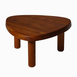 Vintage T23 Elm Side Table by Pierre Chapo