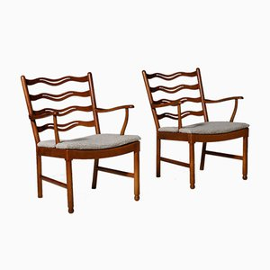 1755 Armchairs by Ole Wanscher for Fritz Hansen, 1946, Set of 2