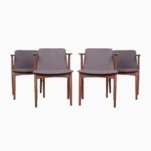 Dining Chairs by Hans Olsen, 1960s, Set of 4