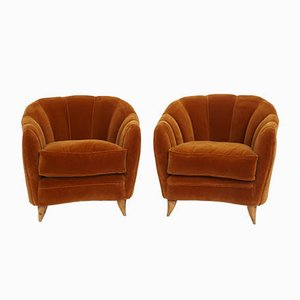 Model Shell Lounge Chairs by Gio Ponti for ISA Bergamo, 1950s, Set of 2