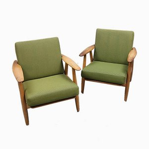 Model GE-240 Armchairs by Hans J. Wegner for Getama Gedsted, 1950s, Set of 2