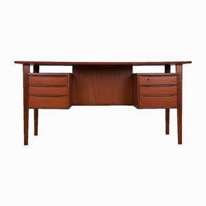 Mid-Century Freestanding Teak Desk by Peter Løvig Nielsen, 1960s