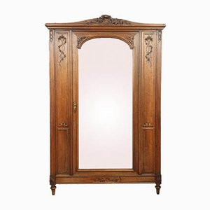 Louis XVI Walnut Wardrobe, 1880s