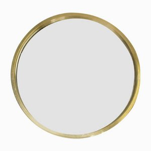 Brass Mirror from Glass Mäster, 1970s
