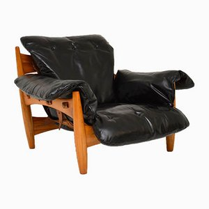 Sheriff Leather Armchair by Sergio Rodrigues for ISA, 1960s