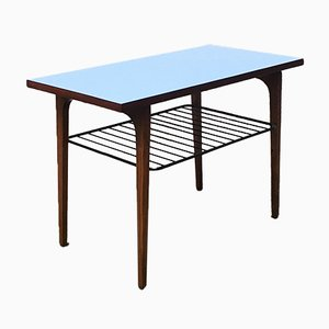 Mid-Century Italian Wood & Metal Coffee Table, 1970s