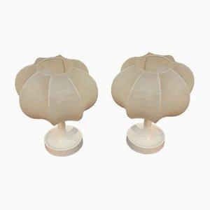 Lampes de Bureau Cocoon Mid-Century par Friedel Wauer pour Goldkant, 1960s, Set de 2