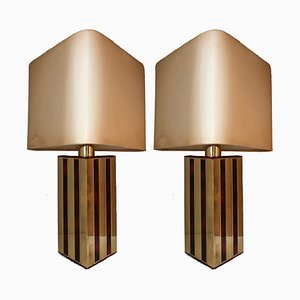 Table Lamps by Willy Rizzo for Lumica, 1970s, Set of 2