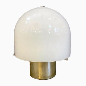 Mid-Century Italian Opal Glass Table Lamp from Mazzega, 1950s