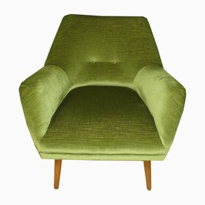 Mid-Century Green Club Chair, 1950s