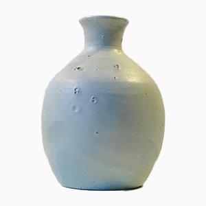 Scandinavian Modern Blue Stoneware Vase by Soren Vaelds