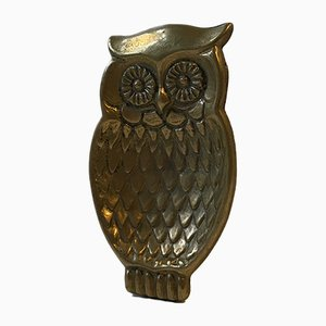 Antique Brass Owl Ashtray