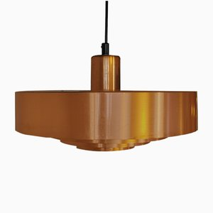 Copper Roulet Ceiling Lamp by Johannes Hammerborg for Fog & Mørup, 1960s