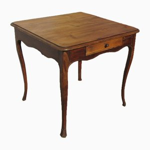 Antique Solid Pine Side Table, 1900s
