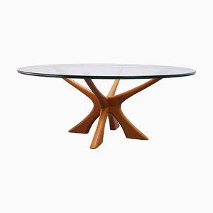 Table Basse Modèle T118 par Illum Wikkelsø pour Niels Eilersen, Danemark