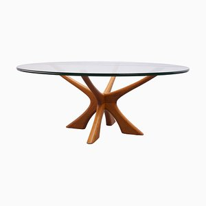 Tavolino da caffè modello T118 di Illum Wikkelsø per Niels Eilersen, Danimarca