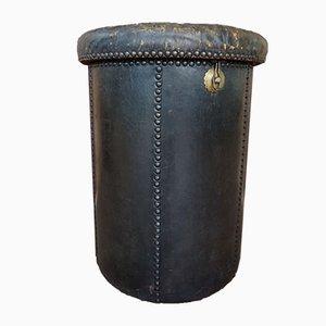 Antiker Fußhocker aus Leder