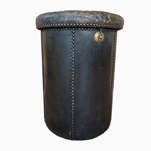 Antique Leather Ottoman