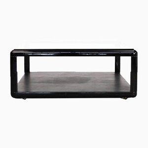 Large Glass and Leather Model T114 Coffee Table from Tecno, 1980s