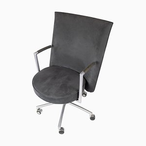 Office Chair Model J70 in Dark Grey Fabric by Johannes Foersom