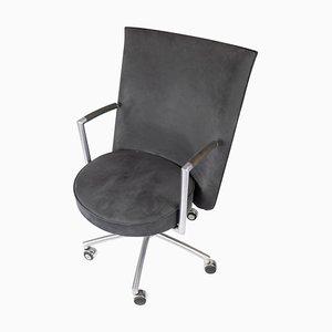 Sedia da ufficio modello J70 in tessuto grigio scuro di Johannes Foersom