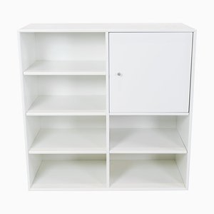 White Montana Module with Cabinet and 6 Shelves by Peter J. Lassen