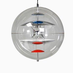 Lámpara colgante grande en forma de globo de Verner Panton para Louis Poulsen, 1969