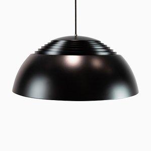 Lampada Royal da soffitto in metallo nero di Arne Jacobsen