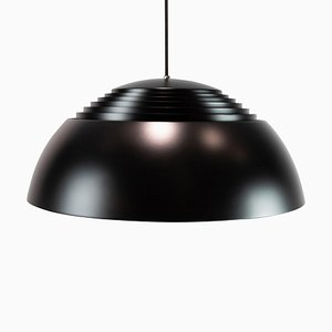 Royal Ceiling Pendant in Black Metal by Arne Jacobsen