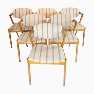 Modell 42 Esszimmerstühle von Kai Kristiansen, 1960er, 6er Set