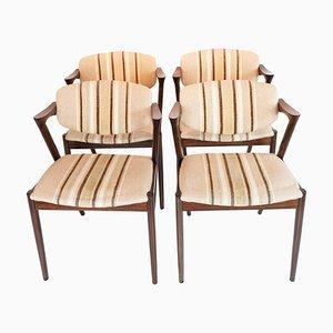 Modell 42 Esszimmerstühle von Kai Kristiansen, 1960er, 4er Set