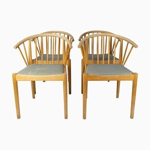 Danish Dining Chairs in Beech, 1960s, Set of 4