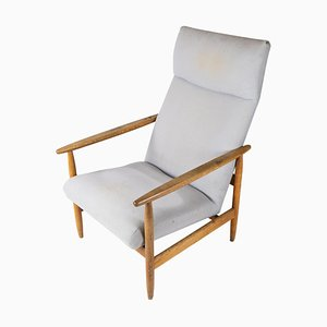 Easy Chair Model J65 in Light Wood by Ejvind Johansson, 1960s