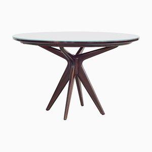 Tavolo da pranzo rotondo attribuito a Osvaldo Borsani, anni '50