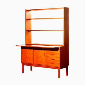 Teak Bookcase with Slidable Writing / Working Space, 1960s, Sweden