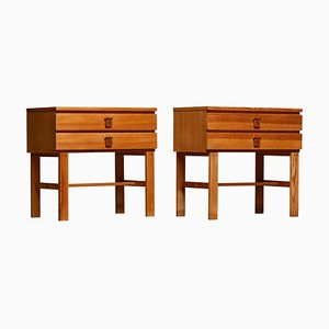 Nightstands in Pine by Sigurd Göransson, Sweden, 1970s, Set of 2