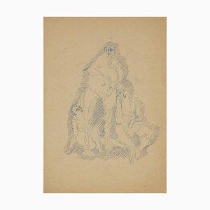 Herta Haussmann, Figuren, Bleistift, 1940er
