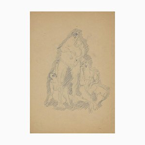 Herta Haussmann, Figures, Pencil, 1940s
