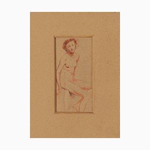 Aurelio Mistruzzi, Akt, Bleistift und Pastell, 1920er