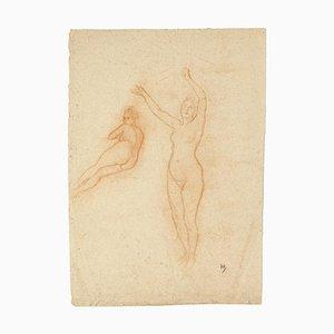 Arnold Heldink, Nudes Study, Pastel Drawing, Frühes 20. Jahrhundert