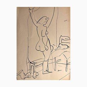 Tibor Gertler, Interner Akt, China Tinte, 1950er