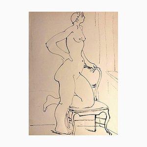 Tibor Gertler, Internal Nude, China Ink, 1950s